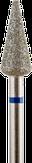 Владмива Фреза алмазная конус, D5,0 мм, синяя, средняя зернистость 806.266.524.050