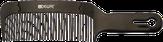 Dewal Расческа для стрижки под машинку, черная, изогнутая 20 см.