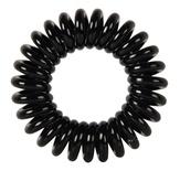 """Dewal Резинки для волос  """"Пружинка"""", цвет черный (3 шт.)"""