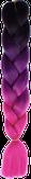 HIVISION Канекалон для афрокосичек черный/темно-фиолетовый/фуксия # 50