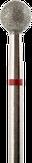 Владмива Фреза алмазная шар, D5,0 мм. красная, мягкая зернистость 806.001.514.050