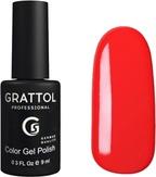 Grattol Гель-лак №030 Bright Red 9 мл
