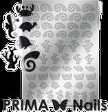 Prima Nails Металлизированные наклейки SEA-005, Серебро