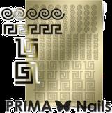 Prima Nails Металлизированные наклейки OR-004, Золото