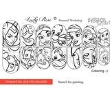 Lucky Rose Слайдер-раскраска Stencil Coloring-2