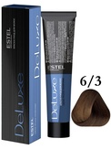 Estel Professional De Luxe Стойкая крем-краска 6/3, 60 мл.