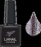"""Lianail Гель-лак с эффектом жидкой фольги """"Black Flash"""", 10 мл."""