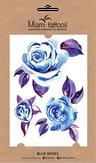 """Miami Tattoos Акварельные переводные тату """"Blue Roses"""""""