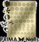 Prima Nails Металлизированные наклейки FL-01, Золото