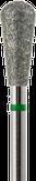 Modelon Фреза алмазная, обратный конус, D5,0 мм. зеленая, грубая зернистость 806.239.534.050