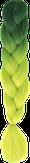 HIVISION Канекалон для афрокосичек зеленый/неоновый лайм