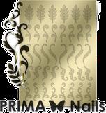 Prima Nails Металлизированные наклейки FL-04, Золото
