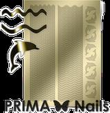 Prima Nails Металлизированные наклейки SEA-002, Золото