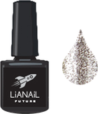 """Lianail Гель-лак с эффектом жидкой фольги """"Silver Flash"""", 10 мл."""