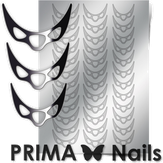 Prima Nails Металлизированные наклейки CL-007, Серебро