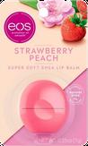 Eos Flavor Strawberry Peach Бальзам для губ с ароматом клубники и персика (на картонной подложке)