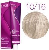 Londa Color Стойкая крем-краска 10/16 яркий блонд пепельно-фиолетовый, 60 мл,