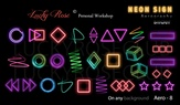 Lucky Rose Слайдер-дизайн эффект аэрографии Aero Neon-8