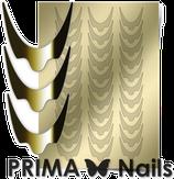 Prima Nails Металлизированные наклейки CL-008, Золото