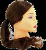 Dewal Голова учебная протеиновые волосы, цвет шатен 50-60 см. FI-2022XL-6