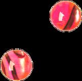 """Irisk Декоративные элементы """"Кошачий глаз"""" №03 Рубиновый круглый"""