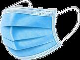 Modelon Маска трехслойная защитная для лица голубая 5 шт.