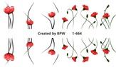 BPW Style Слайдер-дизайн Красные цветы, sd1-664