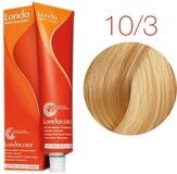 Londa Color Стойкая крем-краска 10/3 яркий блонд золотистый, 60 мл,