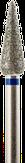 Владмива Фреза алмазная конус, D4,0 мм, синяя, средняя зернистость 806.266.524.040