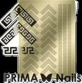 Prima Nails Металлизированные наклейки OR-007, Золото