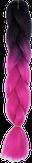 HIVISION Канекалон для афрокосичек черный/розовый неон # 04
