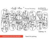 Lucky Rose Слайдер-раскраска Stencil Coloring-15