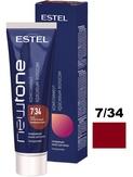 Estel Newtone Маска тонирующая для волос 7/34 Русый золотисто-медный, 60 мл.