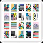 ONIQ Слайдеры для нейл-дизайна Transfer: Abstraction 2