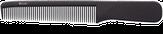 Dewal Расческа рабочая Super Thin с ручкой, узкая, черная 17,5 см. CF016/1
