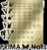 Prima Nails Металлизированные наклейки PR-002, Золото