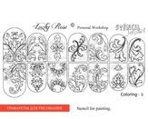 Lucky Rose Слайдер-раскраска Stencil Coloring-3