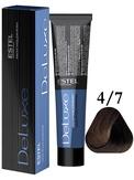 Estel Professional De Luxe Стойкая крем-краска 4/7, 60 мл.