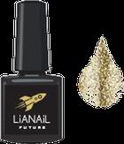 """Lianail Гель-лак с эффектом жидкой фольги """"Gold Flash"""", 10 мл."""
