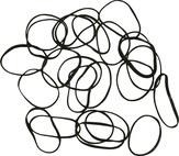 DEWAL Резинки для волос, силиконовые, черные mini 100 шт/уп