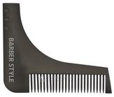 Dewal Расческа для бороды, черная 9,5*11 см. CO-007