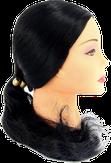 Dewal Голова учебная протеиновые волосы, цвет брюнет 50-60 см. FI-2022XL-401