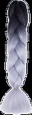 HIVISION Канекалон для афрокосичек черный/серый # 28