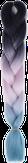 HIVISION Канекалон для афрокосичек черный/розовый/бирюзовый # 43