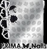 Prima Nails Металлизированные наклейки FL-06, Серебро