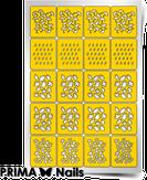 """Prima Nails Трафарет для дизайна ногтей, """"Осенний принт"""""""