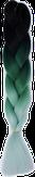 HIVISION Канекалон для афрокосичек черный/зеленый/бирюзовый # 77
