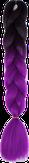 HIVISION Канекалон для афрокосичек черный/фоилетовый # 21