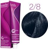 Londa Color Стойкая крем-краска 2/8 сине-черный, 60 мл,