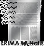 Prima Nails Металлизированные наклейки GM-06, Серебро